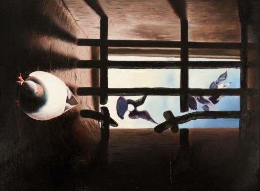 Peinture réalisée en prison en Turquie. Source : association Art et Prison France.