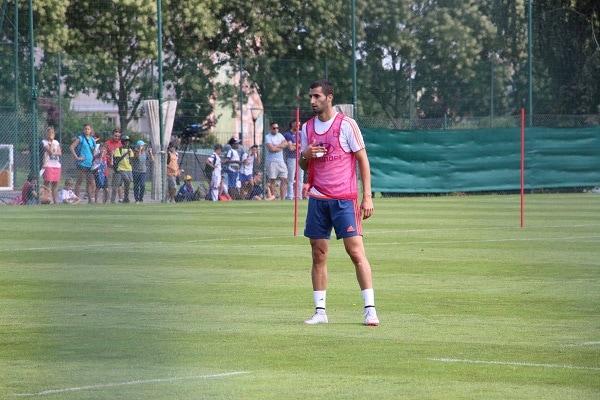 Le capitaine de l'OL Maxime Gonalons à l'entrainement. ©LM/Rue89Lyon
