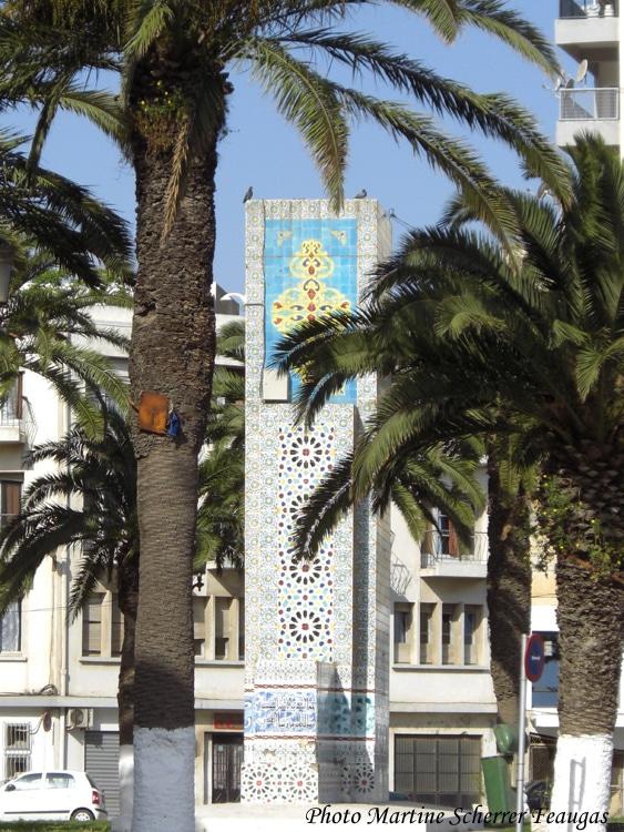 La Stèle du Maghreb à Oran qui a recouvert le socle du monument aux morts ©Martine Scherrer Faugas