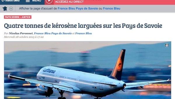« Fuel dumping » : quatre tonnes de kérosène larguées entre Chambéry et le lac Léman