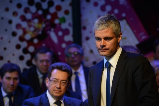 Laurent Wauquiez, en campagne pour les élections régionales Auvergne Rhône-Alpes. Crédit : Eric Soudan.