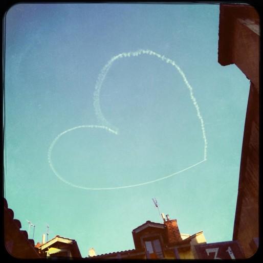 Le coeur de Lou instagrammé par Emma Pile.