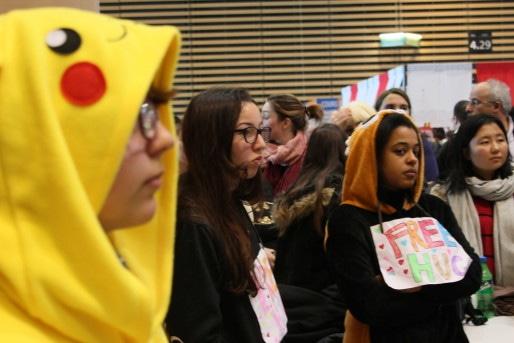 Ambiance Pikachu et free hugs - Crédit Eva Thiébaud