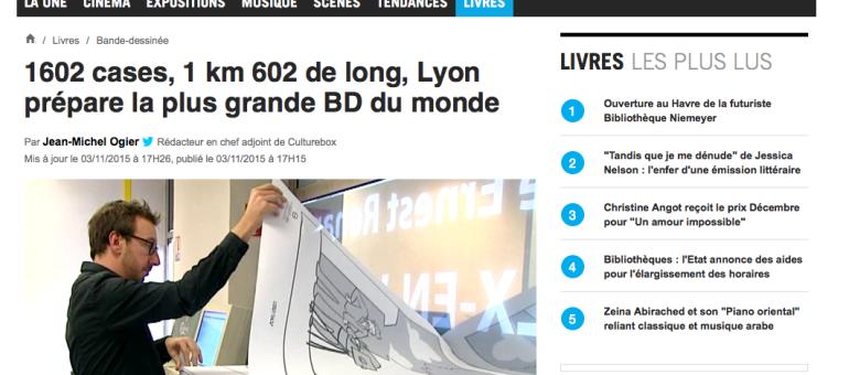Lyon veut récupérer son record de la plus longue BD du monde