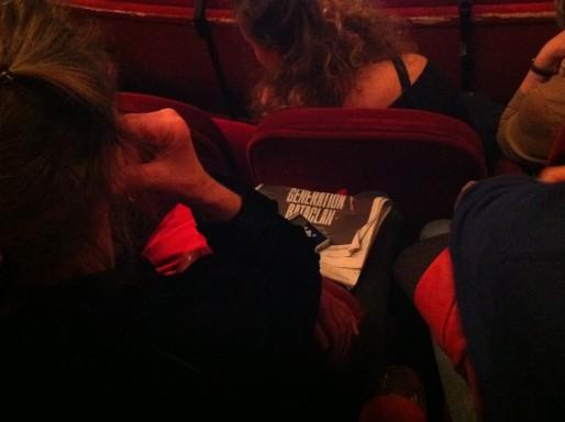 """Au théâtre des Célestins, à la soirée d'ouverture du festival Mode d'emploi 2015, """"Suis-je le gardien de mon frère ?""""."""
