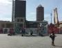 La fin des travaux de destruction du bâtiment B10 sur la place Béraudier devant la gare ©BE/Rue89Lyon