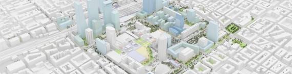 Plan masse du futur quartier de la Part-Dieu