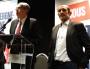 De gauche à droite : Cécile Cukierman (PCF), Jean-Jack Queyranne (PS) et Jean-Charles Kohlass (EELV) lors de la conférence de presse annonçant un accord de fusion de leur liste. ©LB/Rue89Lyon