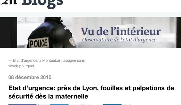 Fouilles et palpations en maternelle près de Lyon