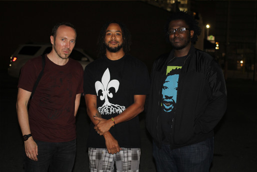 Nicolas Ticot et 2 artistes de La Nouvelle Orléans.