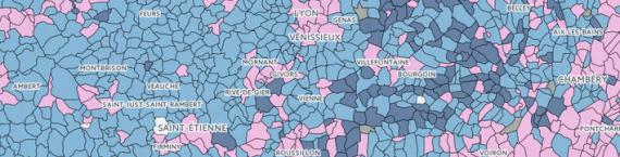 Capture d'écran carte électorale régionales 2015