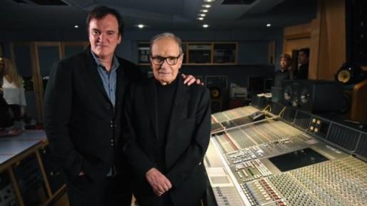 Quentin Tarantino et Ennio Morricone.