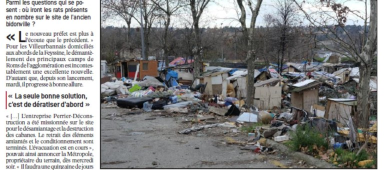 La presse locale et les rats dans les bidonvilles de Roms