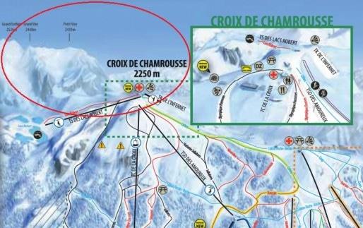 Les sommets du Grand Van et du Petit Van, dans le prolongement de la Croix de Chamrousse, point-culminant de la station.