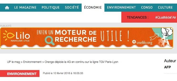 La 4G en continu sur la ligne TGV Paris-Lyon mais que pour les clients Orange