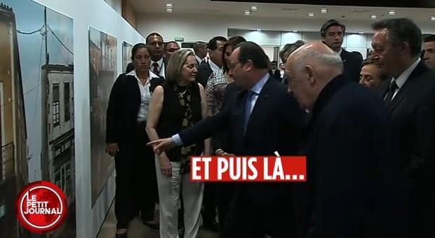 Le petit moment de solitude de Thierry Braillard en visite avec François Hollande