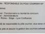 Capture de l'offre d'emploi pour un poste de responsable du courrier au cabinet de Laurent Wauquiez