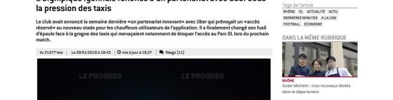 Capture d'écran du progres.fr