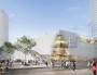 Vue de la future entrée du centre commercial de la Part-Dieu sur le boulevard Vivier-Merle avec un escalier côté rue Servient donnant accès au toit. © Photo DR