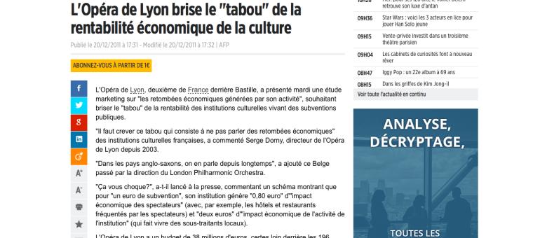 L'Opéra de Lyon voudrait casser l'image d'une «culture non rentable»