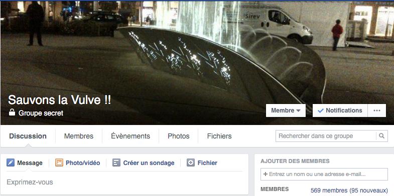 Groupe Facebook Sauvons la vulve