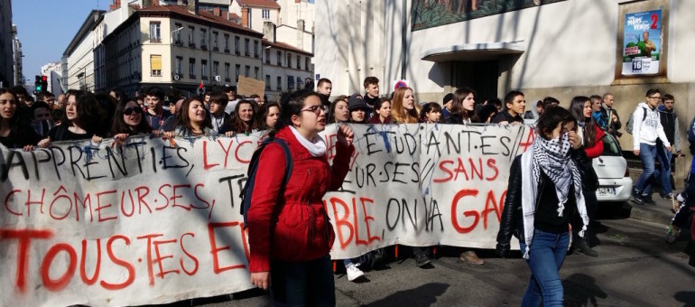 Une deuxième manif « jeune » contre la loi travail à Lyon