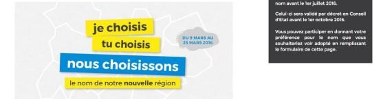 Slogan de la campagne de consultation du conseil régional. Capture d'écran