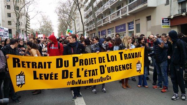 A Lyon, 4ème manif contre la loi travail : une forte mobilisation et 24 interpellations