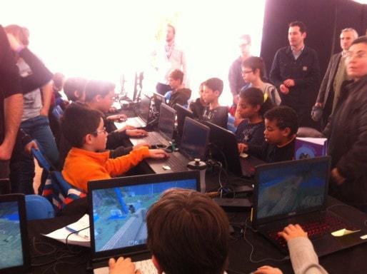 L'atelier Minecraft, pour sensibiliser les parents aux jeux-vidéos. DR.