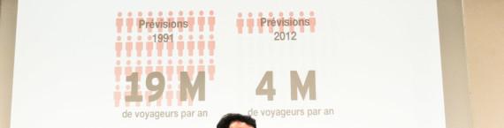 """Le Lyon-Turin est basé sur """"des projections erronnées"""" selon le maire de Grenoble Eric Piolle (EELV) et sa première adjointe Elisa Martin (PG). Crédit : V.G. / Rue89Lyon"""
