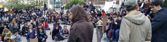 L'Agora ou assemblée de Nuit Debout du mardi 19 avril. ©LB/Rue89Lyon