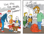 Deux vignettes de la campagne TCL sur les bons comportements à adopter par les usagers.