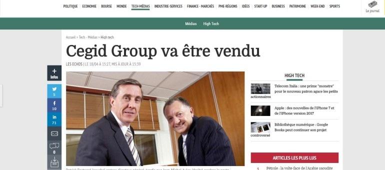 Jean-Michel Aulas vend Cegid à des fonds anglo-saxons