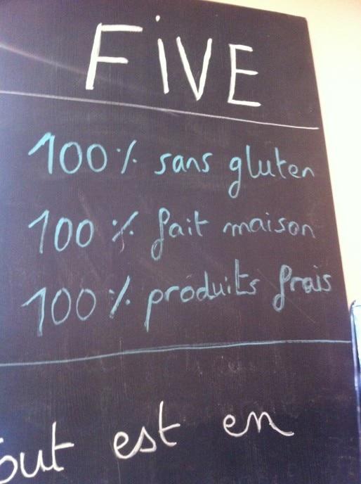 """""""Five"""", 100 % sans gluten, fait maison et produits frais. DR"""