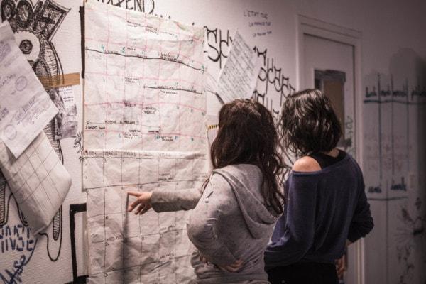 Lucile et Camille participent à l'organisation collective de l'Oblik.