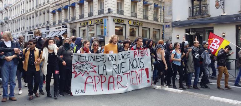 A Lyon, 8ème manif contre la loi travail: petite mobilisation pour débuter la semaine