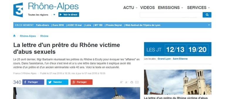 La charge d'un prêtre du diocèse de Lyon, victime de pédophilie, contre Barbarin