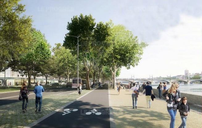 Image d'un futur boulevard urbain à la Confluence.