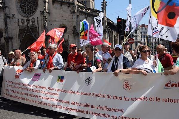 Les retraités ont pris la tête du cortège. ©SS Rue 89 Lyon