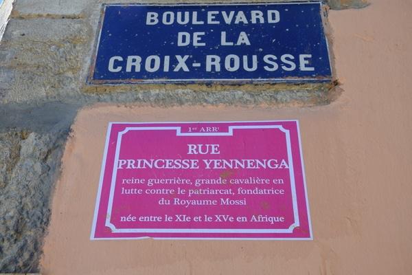 Les rues des entes de la Croix Rousse ont été re-baptisé du nom de femmes engagées pour leur droits