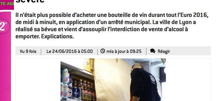 Euro 2016 : vente d'alcool à emporter, quelles interdictions à Lyon ?