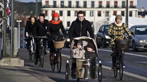 Une autoroute à vélo à Copenhague. ©DR