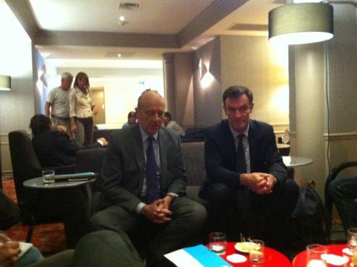 Alain Juppé et Michel Havard à Lyon, le 29 juin 2016. Crédit : Rue89Lyon.