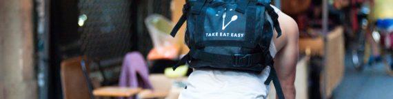 coursier à vélo Take Eat Easy. Arnaud Paillard