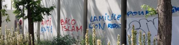 Un des tags trouvés à trois encroits différents du quartier de la Part-Dieu, le 21 juillet 2016. Crédit : LB/Rue89Lyon.
