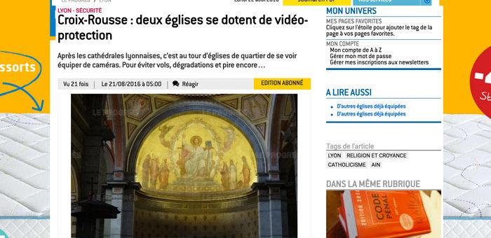 Deux églises de la Croix-Rousse s'équipent de caméras