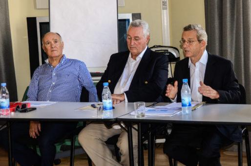 """Adrien Fodil, François Tarantini et Alain Carignon, principaux coordinateurs du """"comité grenoblois de LR"""". Crédit : LR38"""