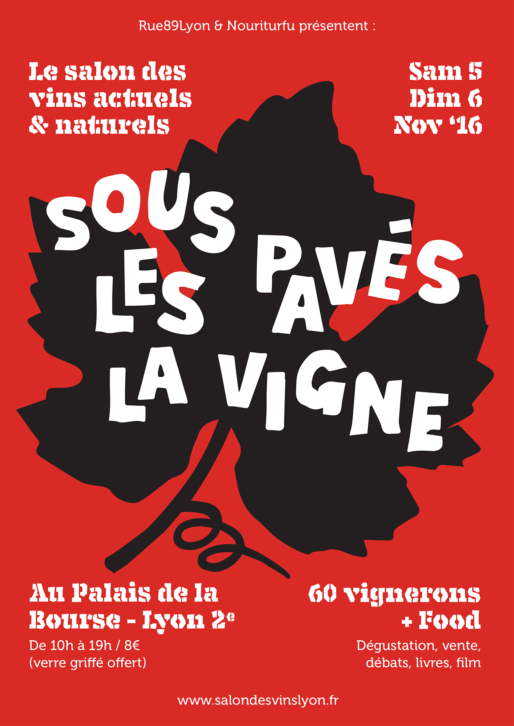 La nouvelle affiche du salon des vins à Lyon, par Morgan (merci !).