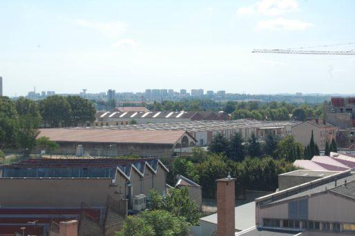 Vue du quartier de Gerland et des anciennes usines FagorBrandt © BE/Rue89Lyon