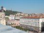 La colline de Fourvière et la place Bellecour vues depuis le toit de La Poste place Antonin Poncet. © BE/Rue89Lyon